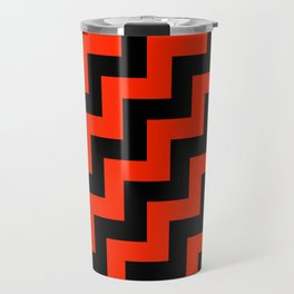 Black and Scarlet Red Steps RTL Travel Mug