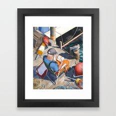 Down East Dockside Framed Art Print