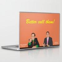 better call saul Laptop & iPad Skins featuring Better call them! Saul Goodman - Ari Gold by Lucho Margolin