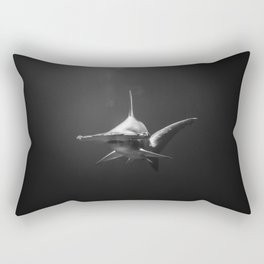 Hammerhead Shark (Black and White) Rectangular Pillow