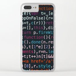 Computer Science Code Clear iPhone Case