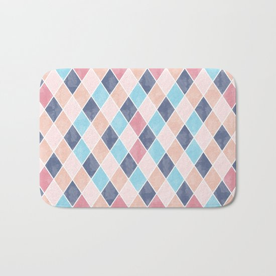 Lovely geometric Pattern VI Bath Mat