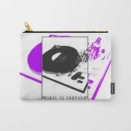 Vinyl is forever print Carry-All Pouch