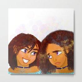 Sisters (no background) Metal Print