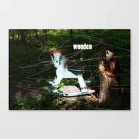 wooden Canvas Prints featuring wooden by Dan Brennan