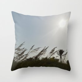 Swaying Plants Throw Pillow