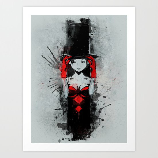 Top Hat Lady Art Print