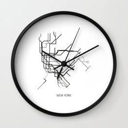 New York Subway Map Print New York Metro Map Poster,Subway Map Print,Metro Map Poster Wall Clock