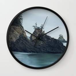 Sunset at Secret Beach Wall Clock