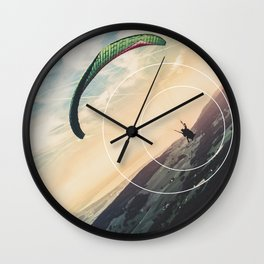 Skydive Gravity - Geometric Photography Wall Clock