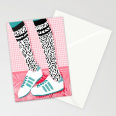 Aiight - sports fashion retro throwback style 1980s neon palm springs socal country club hipster Stationery Cards