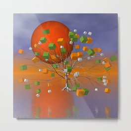 fancy tree and full moon -1- Metal Print