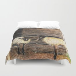 Curly and Moe Duvet Cover