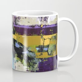 Controversy Prince Deep Purple Abstract Painting Modern Art Coffee Mug