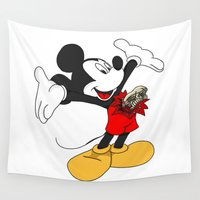 mickey Wall Tapestries featuring Mickey passenger by flydesign