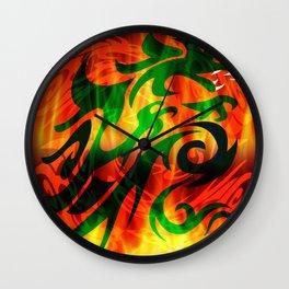 DRAGON RAMPANT Wall Clock