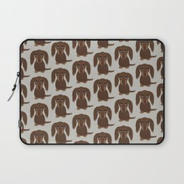 Longhaired Chocolate Dachshund Laptop Sleeve
