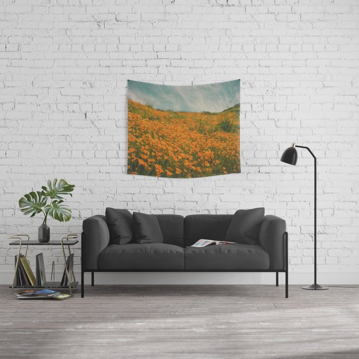California Poppies 016 Wall Tapestry