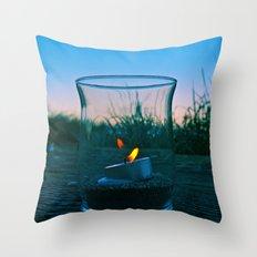 Seaside flame Throw Pillow