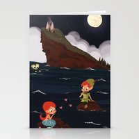 peter pan Stationery Cards featuring Peter Pan by Orelly