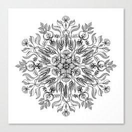 Thrive - Monochrome Mandala Canvas Print