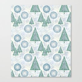 Christmas glitter pattern. Canvas Print