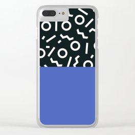 Memphis pattern 49 Clear iPhone Case