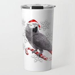 Santa Grey Travel Mug