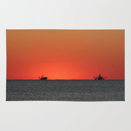 Trawlers at Sunset | Bald Head Island North Carolina Rug