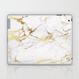 White gold marble Laptop & iPad Skin