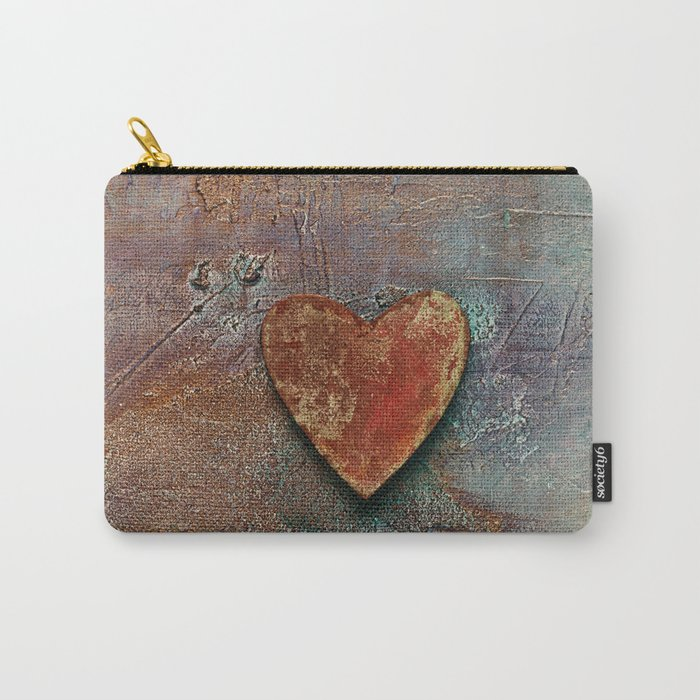 Rusty grunge love heart Carry-All Pouch