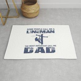 Lineman Dad Rug