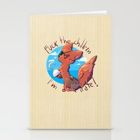 fnaf Stationery Cards featuring Foxy the pirate by TRGreta