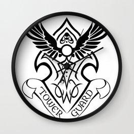Tower Guard Shield (Black) Wall Clock