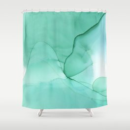 Sea Ink 2 Shower Curtain