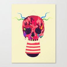 RED RED RED Cranium Canvas Print