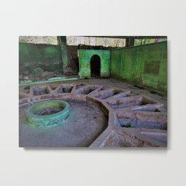 Ready for a Bath? - abandoned bathhouse photo Metal Print