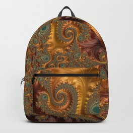 Fall Leaves - Fractal Art Backpack