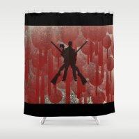cowboy Shower Curtains featuring cowboy by Saleem007
