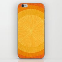 pulp iPhone & iPod Skins featuring Pulp Saffron by Anchobee