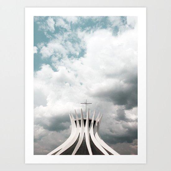 Cathedral   Brasília   Brazil Art Print