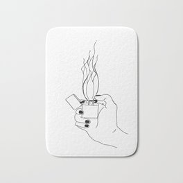 Abstract flame Bath Mat