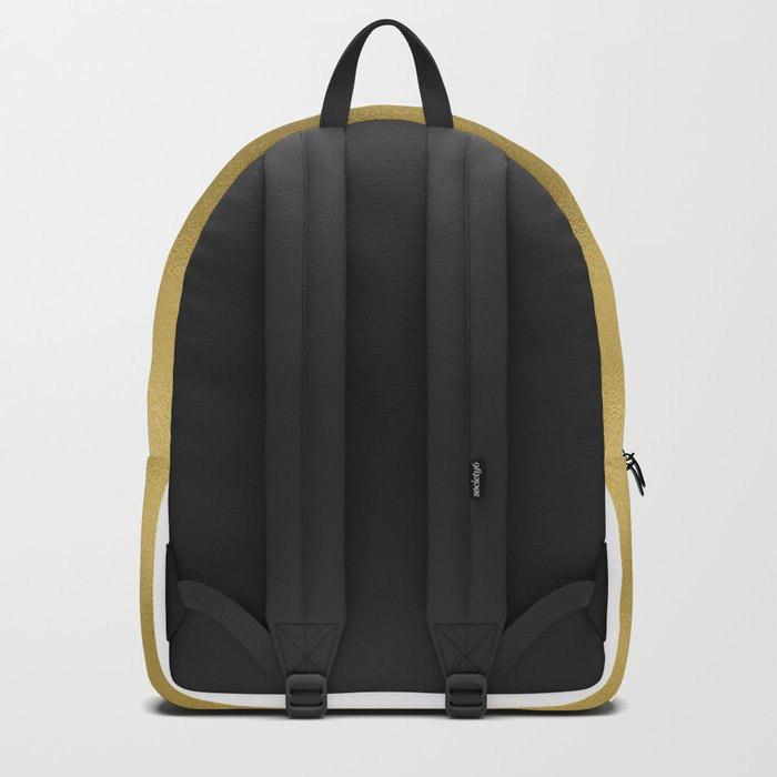 Gold unequal stripes on clear white - vertical pattern Rucksack