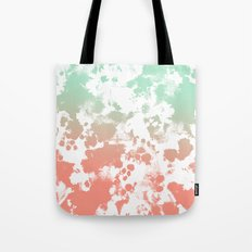 Abstract minimal ombre fade painted trendy modern color palette Tote Bag