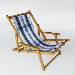 Tiki Shibori Blue Sling Chair