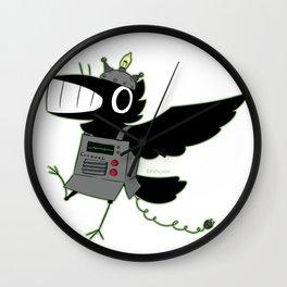 robo fishcrow Wall Clock