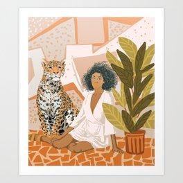 House Guest Art Print