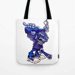 Anarchy Skeleton - Denim Tote Bag