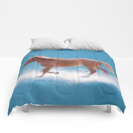 Walking on clouds over the blue sky - version #2 - #society6 #buyart Comforters