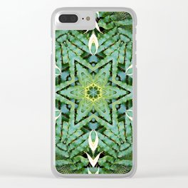 Fern and Foilage Mandala Clear iPhone Case